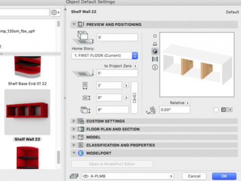 Custom objects in ARCHICAD