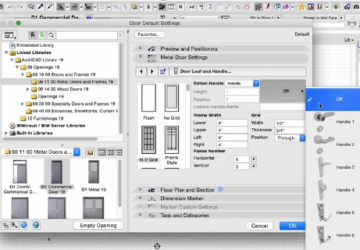 ARCHICAD Window and Door Settings